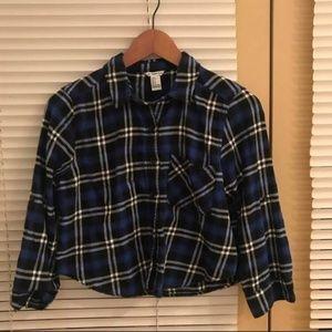 Checked crop shirt